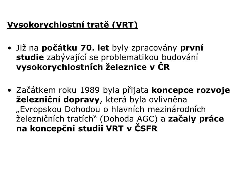 Vysokorychlostní tratě (VRT)
