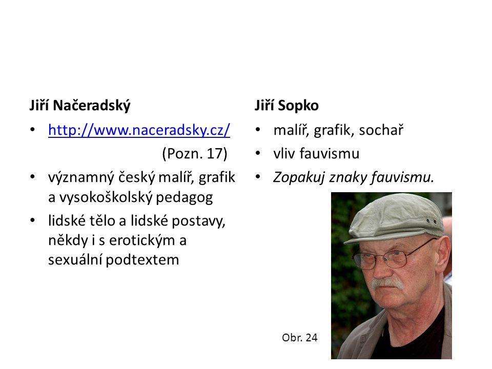 významný český malíř, grafik a vysokoškolský pedagog