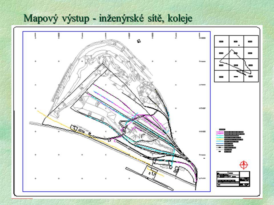 Mapový výstup - inženýrské sítě, koleje