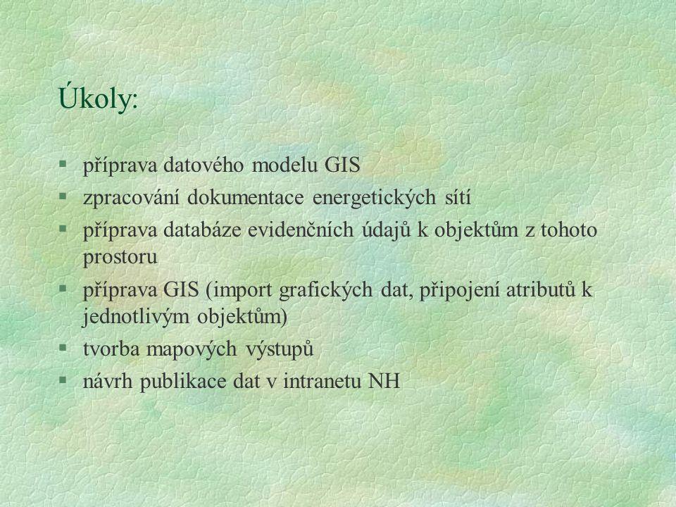 Úkoly: příprava datového modelu GIS