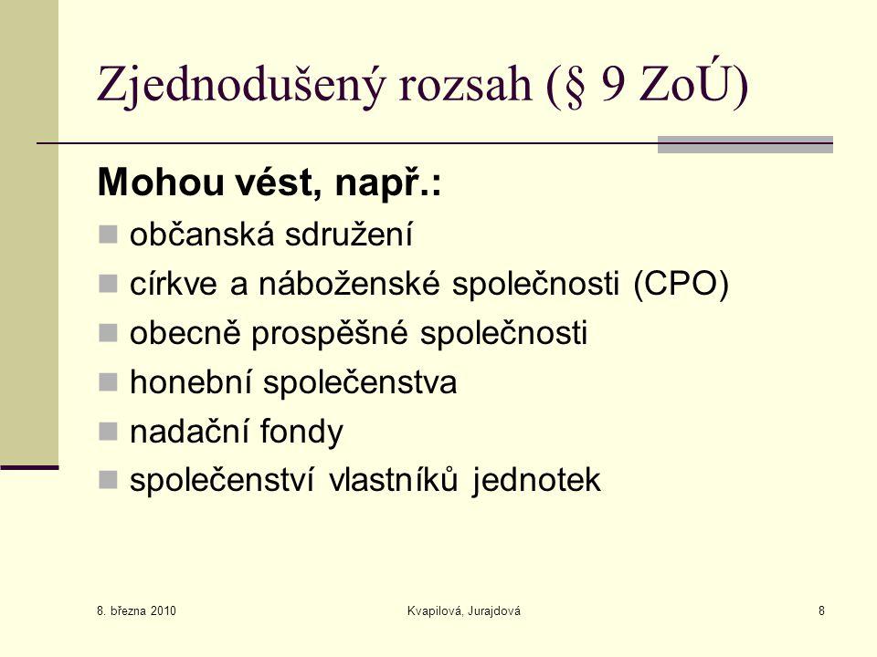 Zjednodušený rozsah (§ 9 ZoÚ)