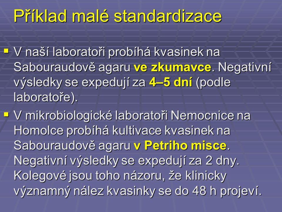 Příklad malé standardizace