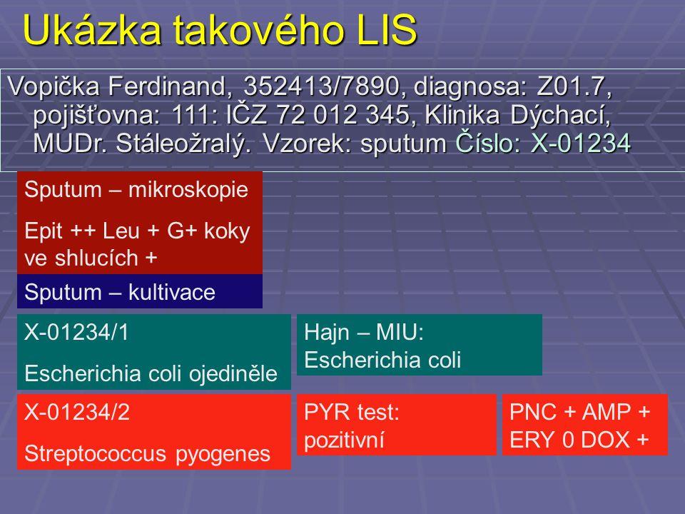 Ukázka takového LIS