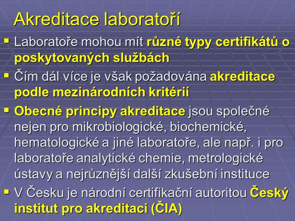 Akreditace laboratoří