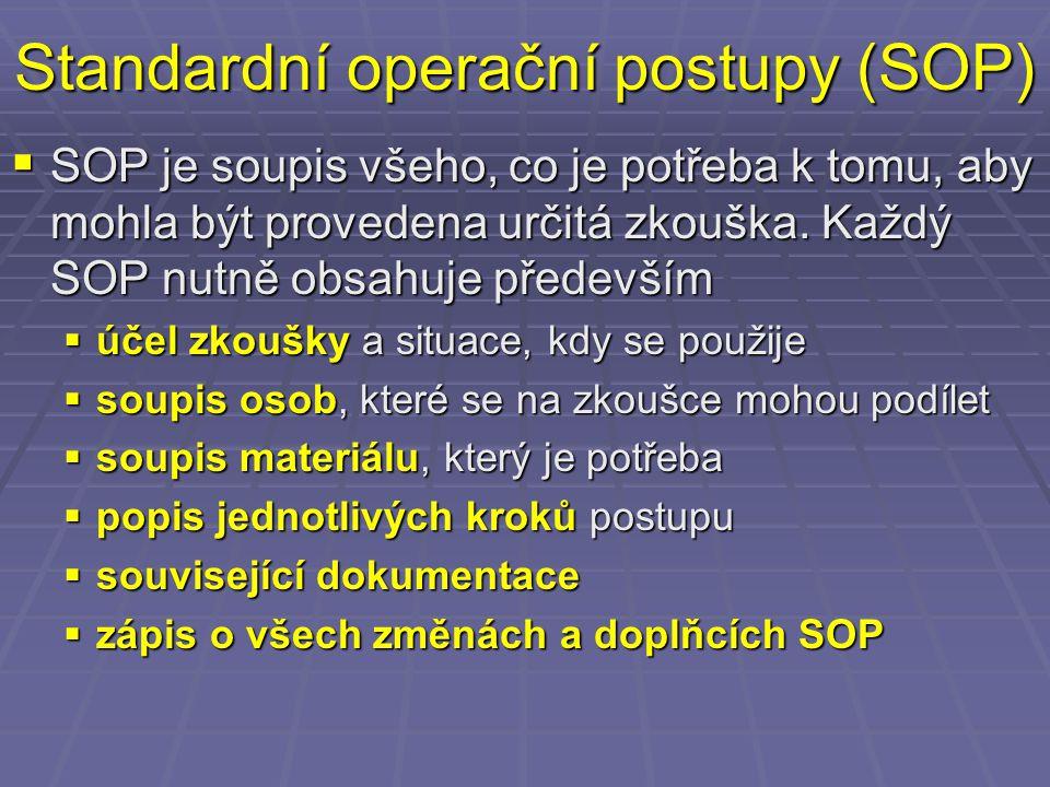 Standardní operační postupy (SOP)