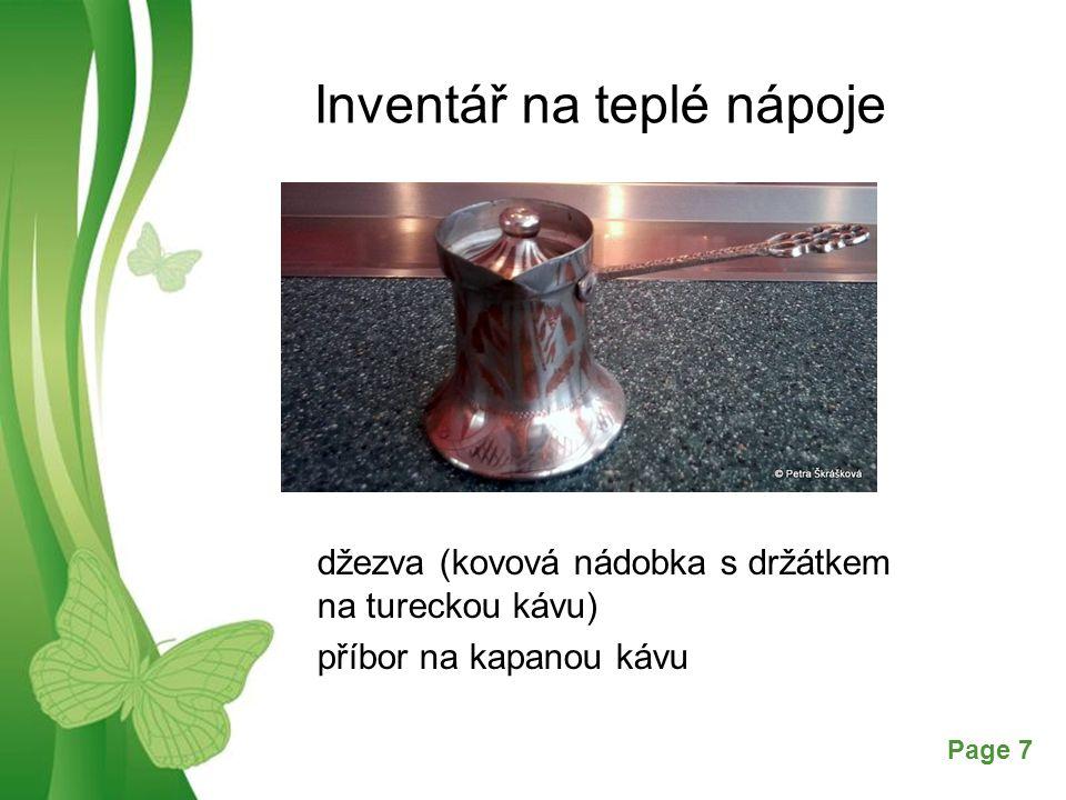 Inventář na teplé nápoje