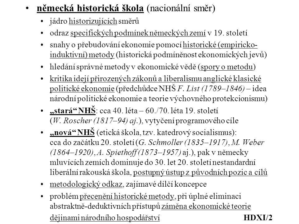 německá historická škola (nacionální směr)