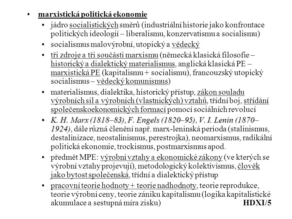 marxistická politická ekonomie