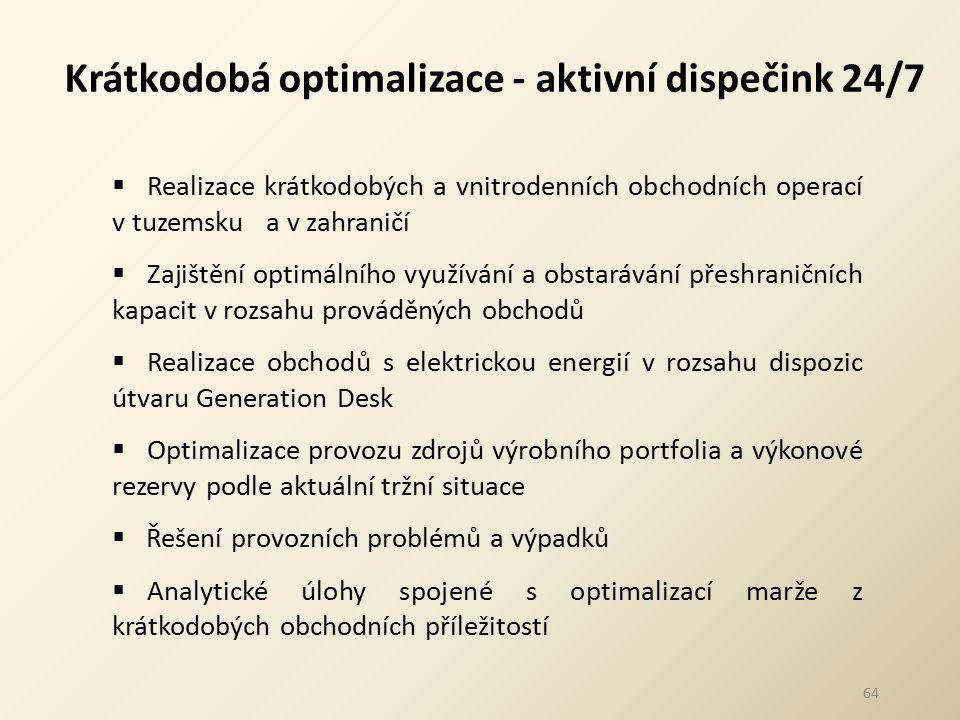 Krátkodobá optimalizace - aktivní dispečink 24/7