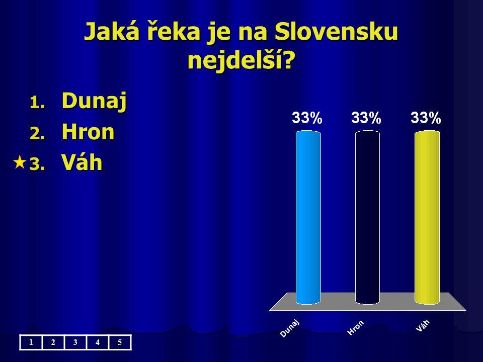 Jaká řeka je na Slovensku nejdelší