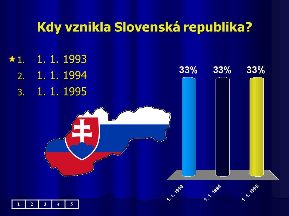 Kdy vznikla Slovenská republika