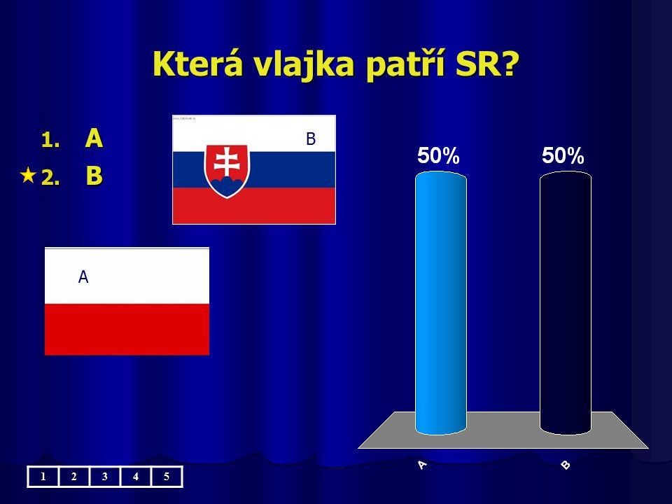 Která vlajka patří SR A B B A 1 2 3 4 5