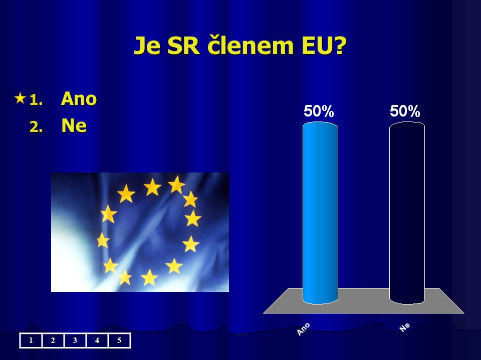 Je SR členem EU Ano Ne 1 2 3 4 5
