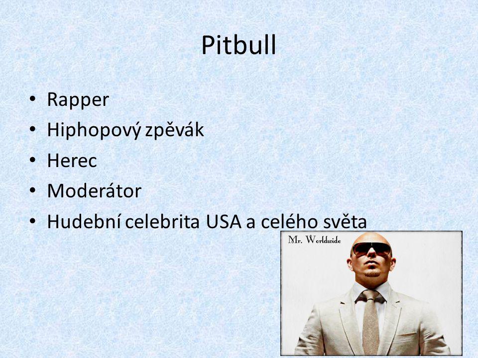 Pitbull Rapper Hiphopový zpěvák Herec Moderátor