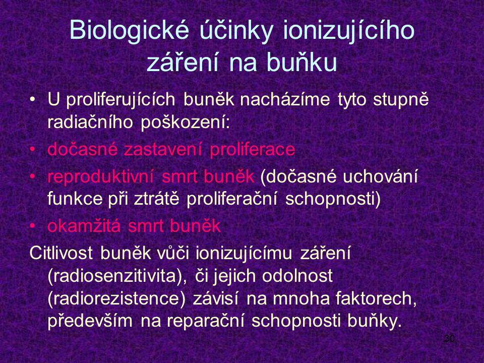 Biologické účinky ionizujícího záření na buňku