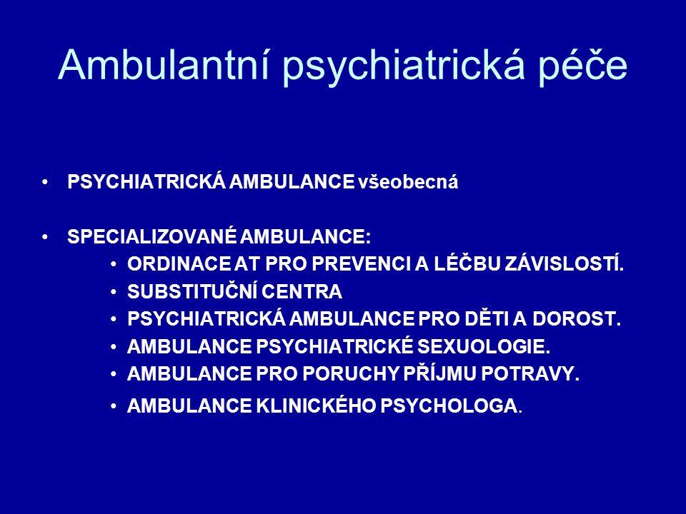 Ambulantní psychiatrická péče