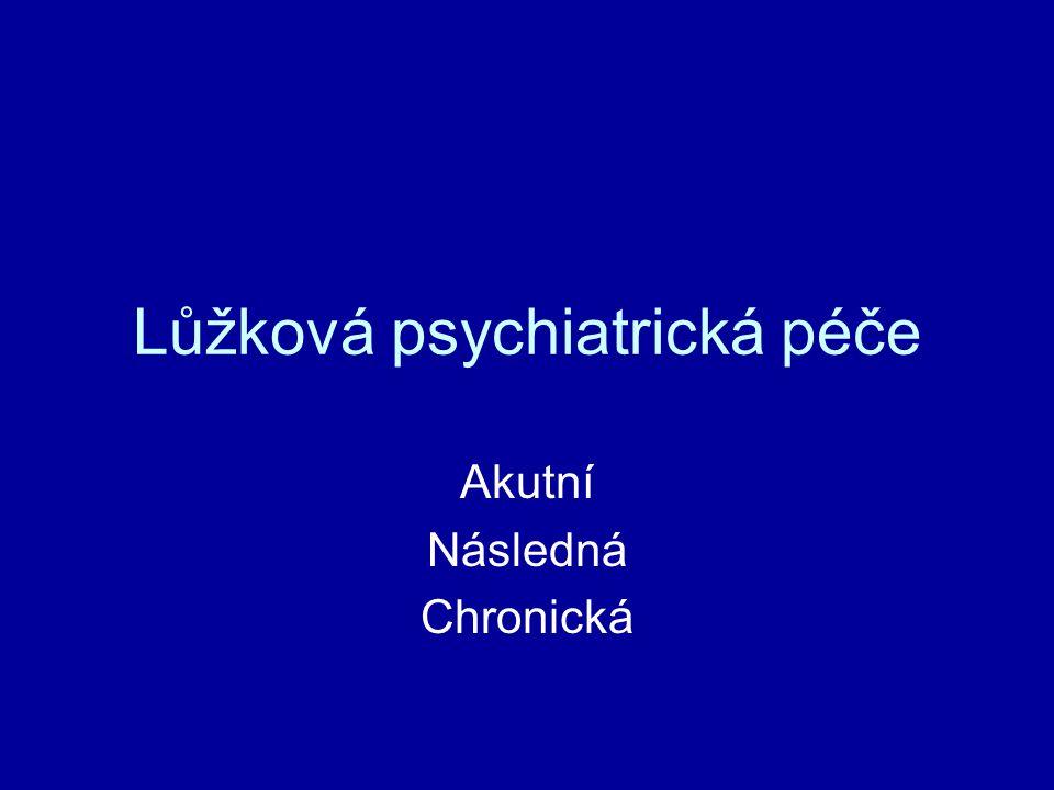 Lůžková psychiatrická péče