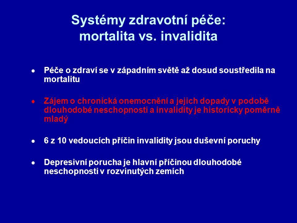 Systémy zdravotní péče: mortalita vs. invalidita