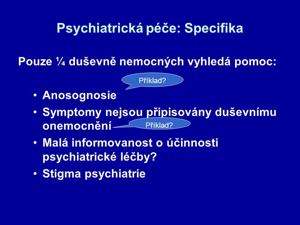Psychiatrická péče: Specifika