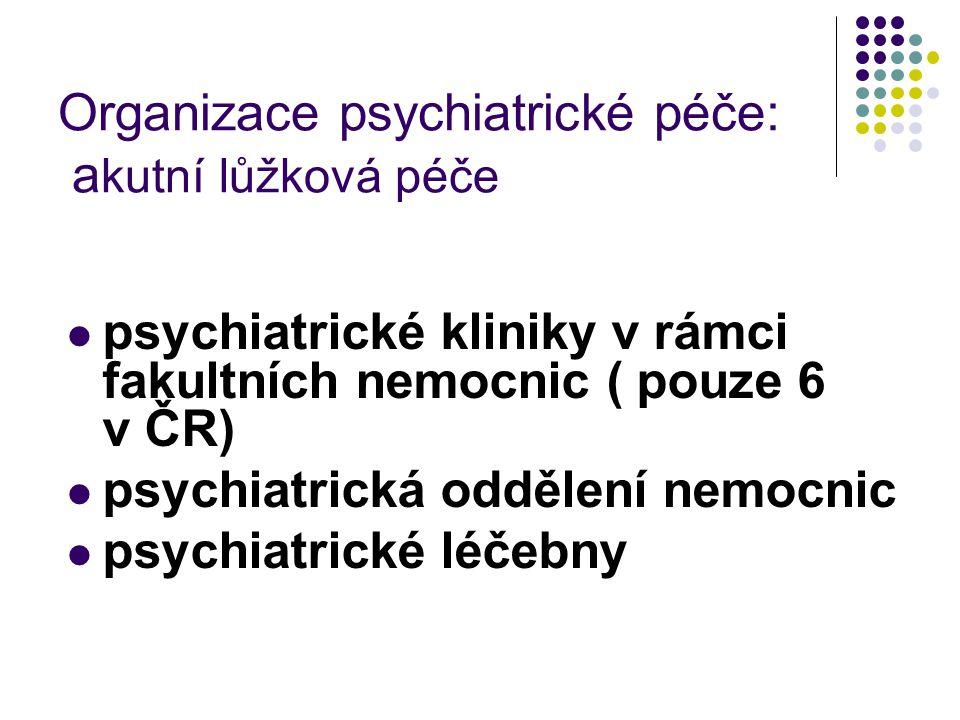 Organizace psychiatrické péče: akutní lůžková péče