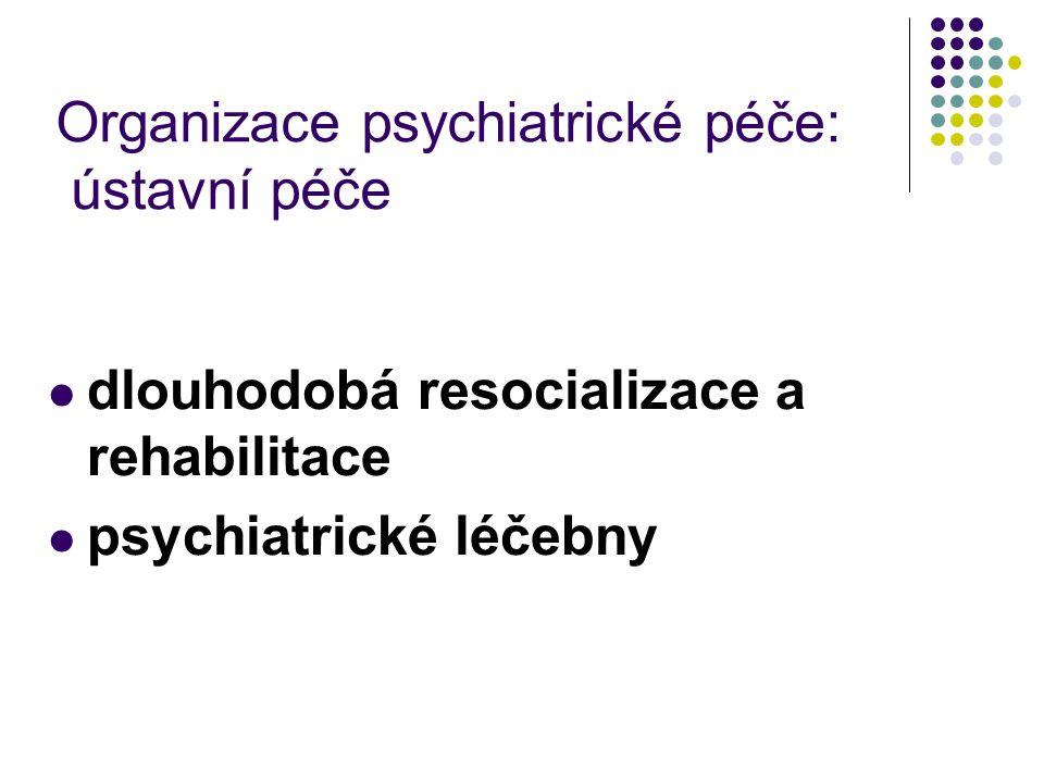 Organizace psychiatrické péče: ústavní péče