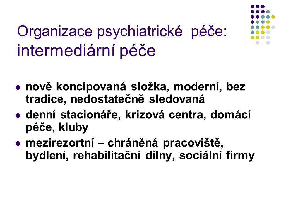 Organizace psychiatrické péče: intermediární péče