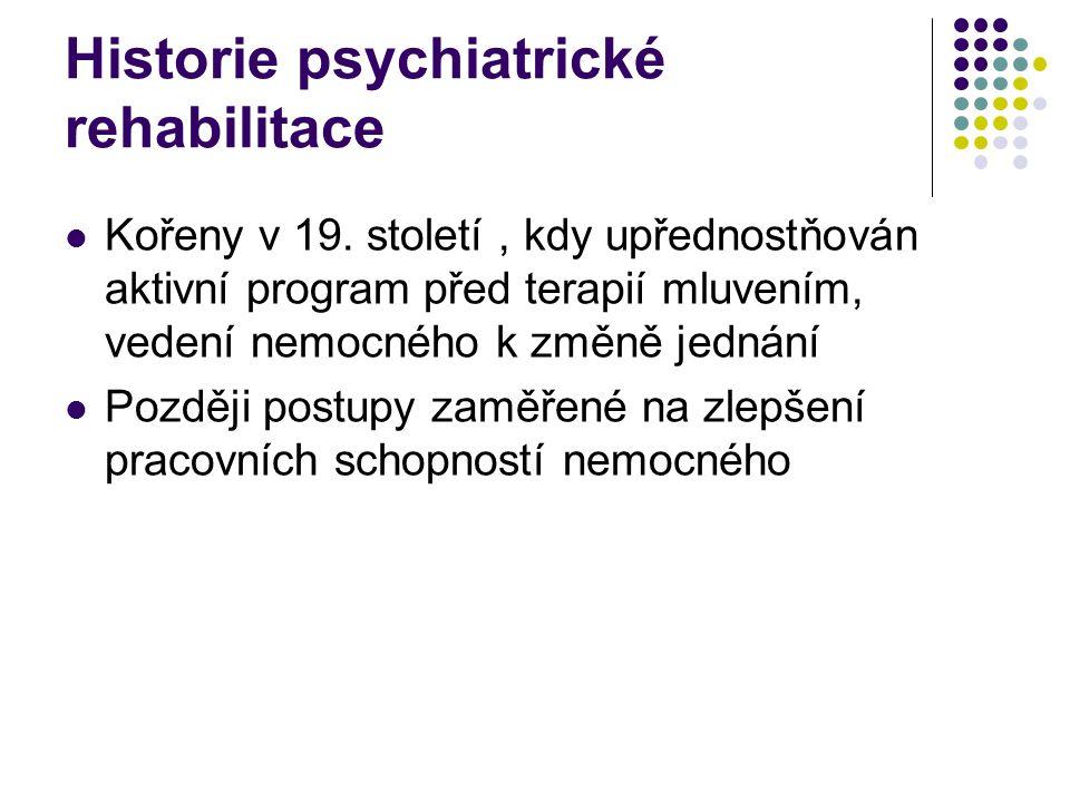 Historie psychiatrické rehabilitace