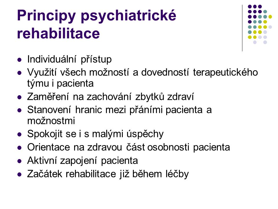 Principy psychiatrické rehabilitace
