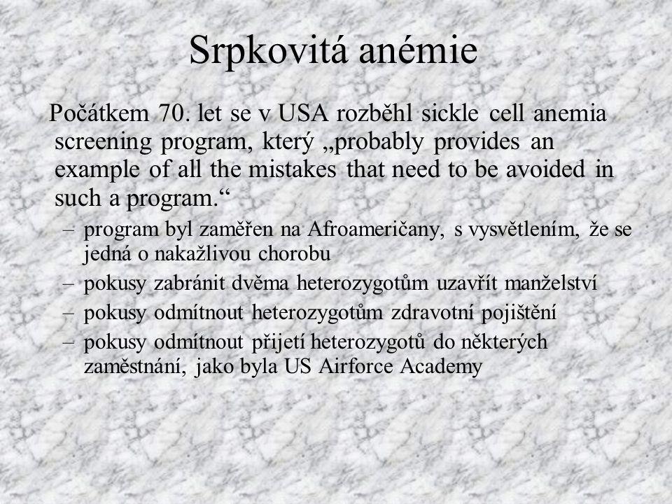 Srpkovitá anémie