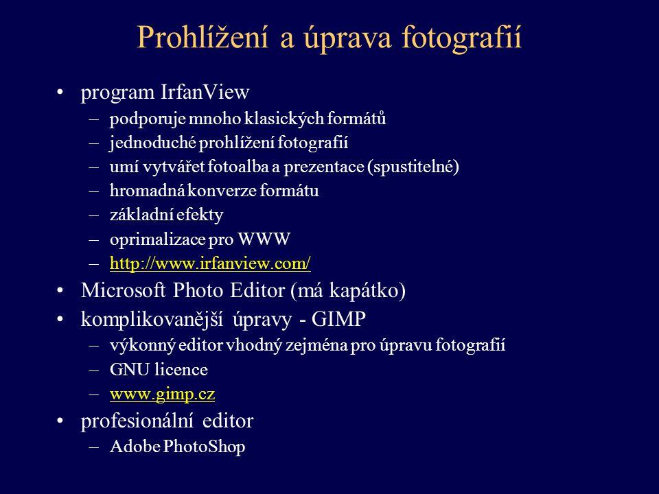 Prohlížení a úprava fotografií