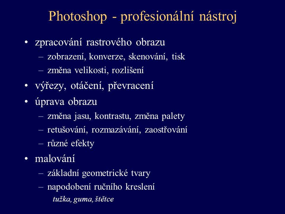 Photoshop - profesionální nástroj