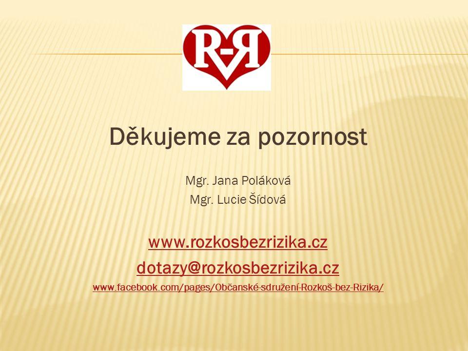 Děkujeme za pozornost www.rozkosbezrizika.cz dotazy@rozkosbezrizika.cz