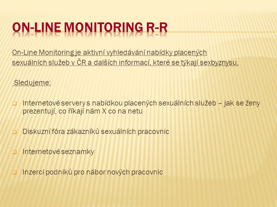 On-Line Monitoring R-R