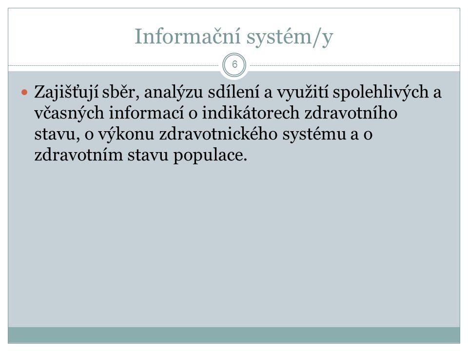 Informační systém/y