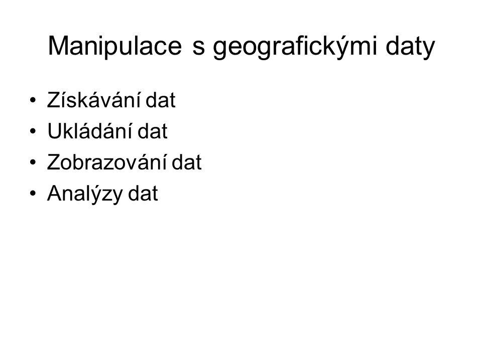 Manipulace s geografickými daty