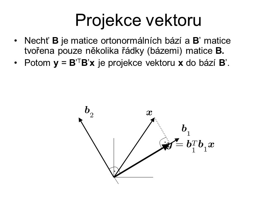 Projekce vektoru y = x b x