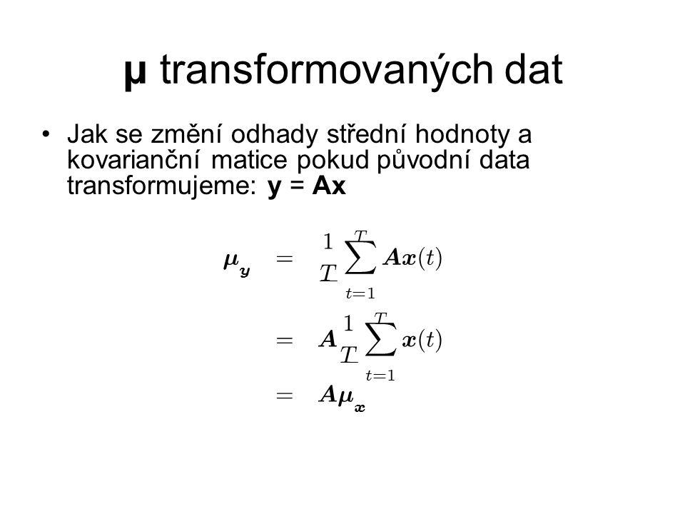 μ transformovaných dat