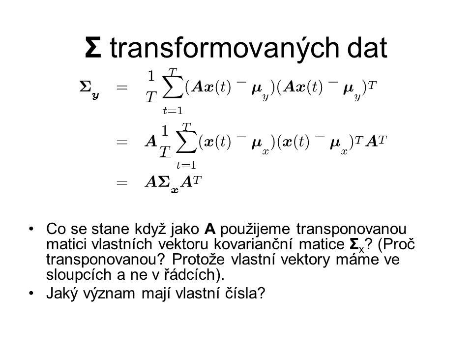 Σ transformovaných dat