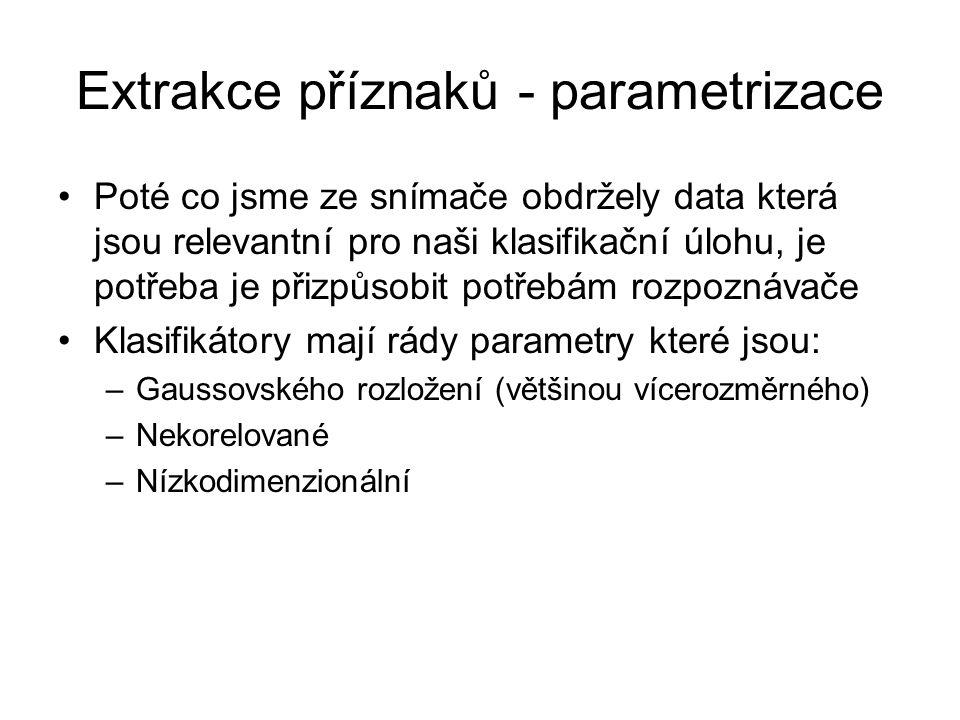Extrakce příznaků - parametrizace