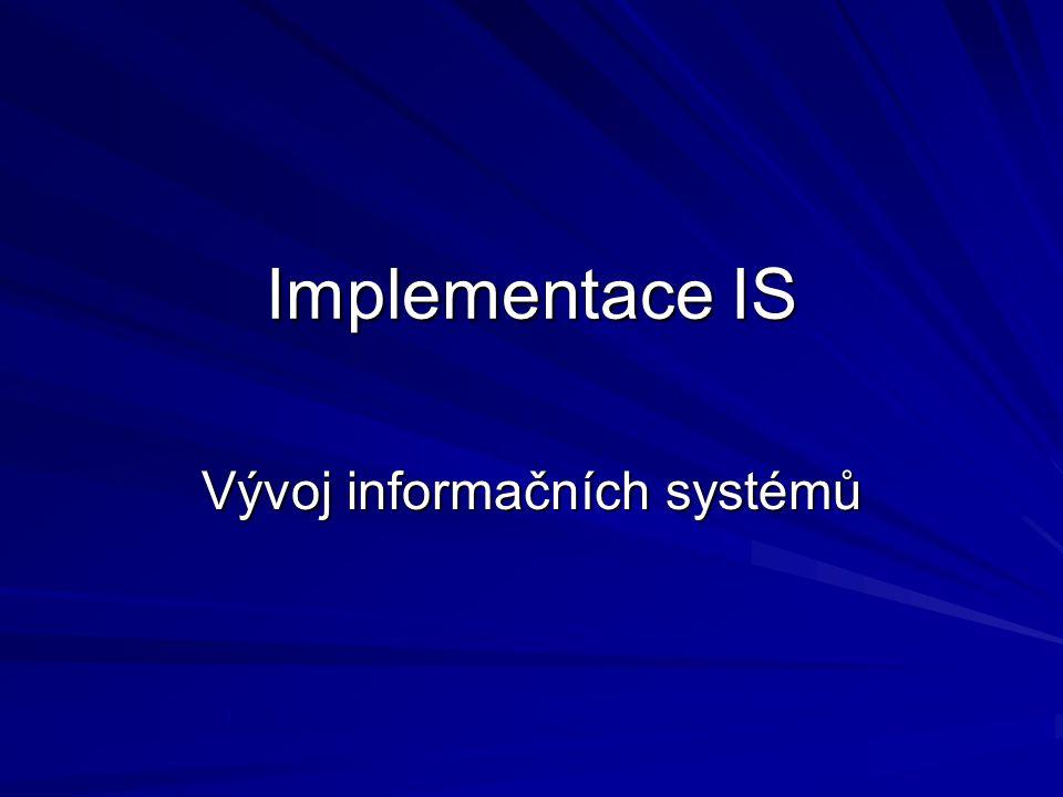 Vývoj informačních systémů