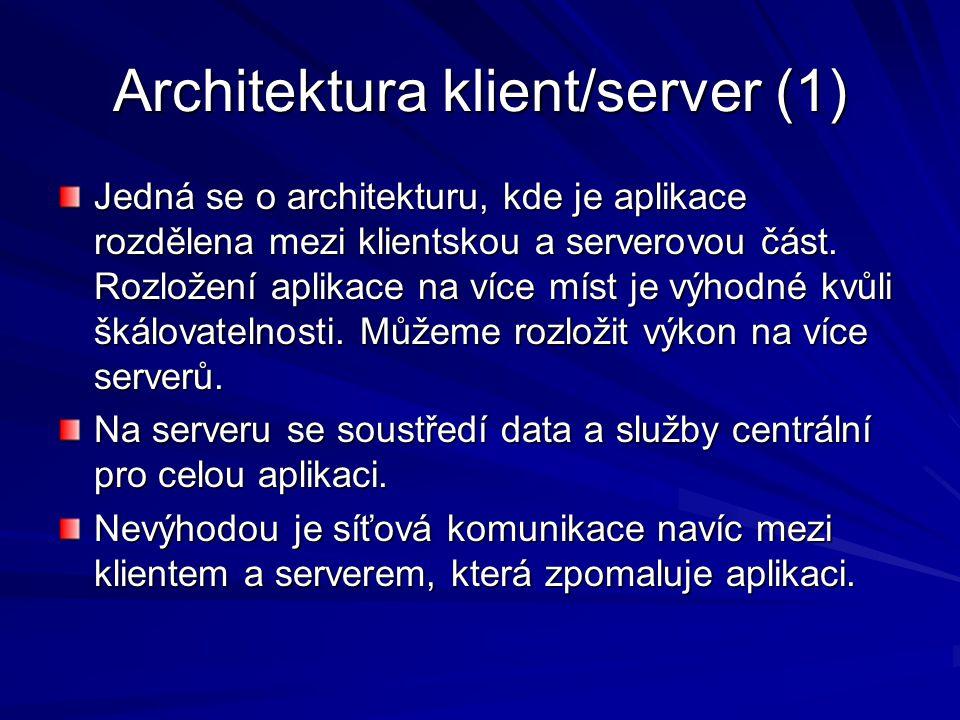 Architektura klient/server (1)