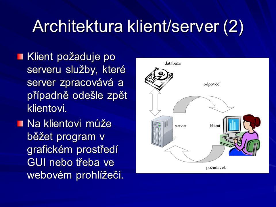 Architektura klient/server (2)