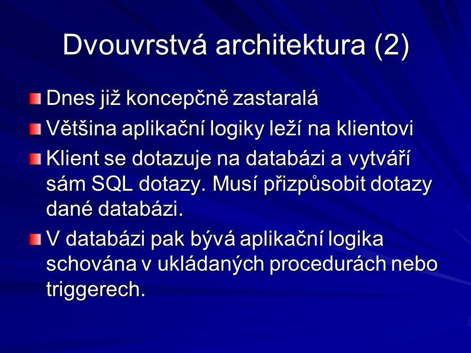 Dvouvrstvá architektura (2)