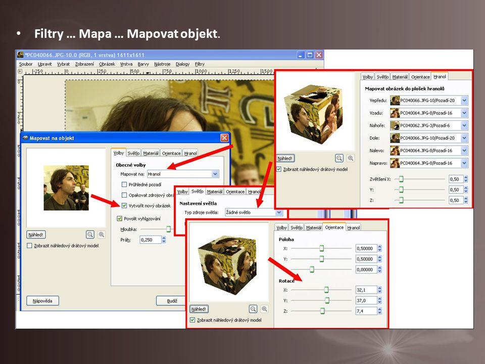 Filtry … Mapa … Mapovat objekt.