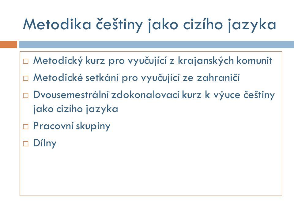 Metodika češtiny jako cizího jazyka