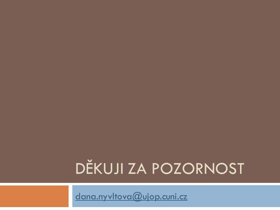 Děkuji za pozornost dana.nyvltova@ujop.cuni.cz