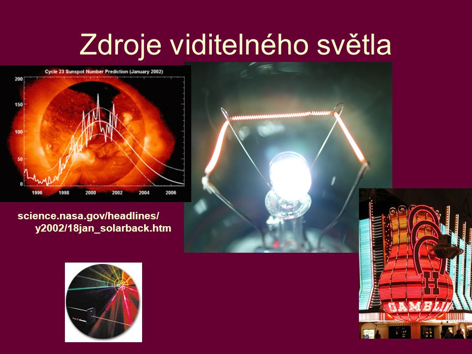 Zdroje viditelného světla