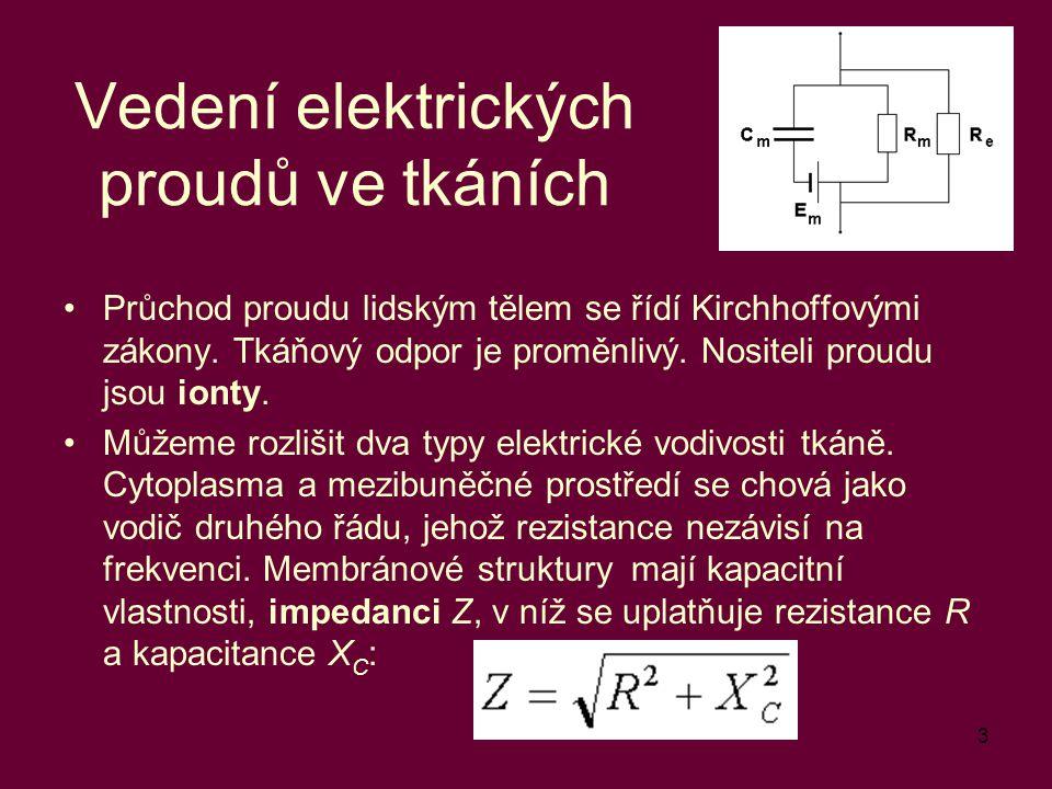 Vedení elektrických proudů ve tkáních