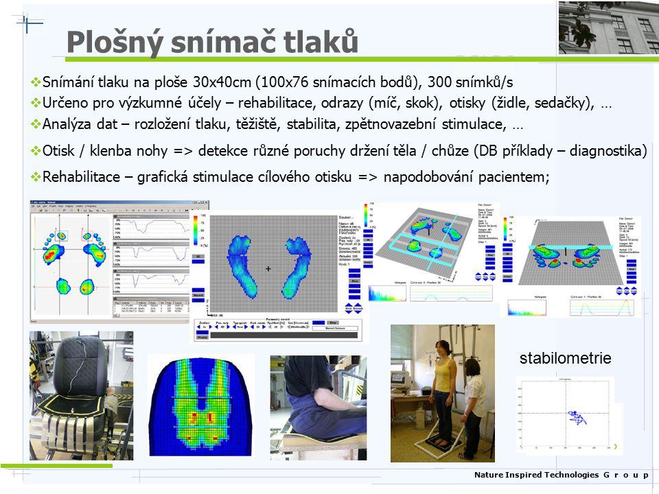 Plošný snímač tlaků stabilometrie