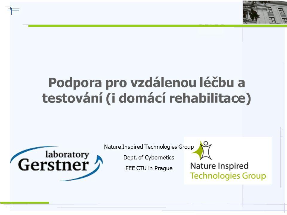 Podpora pro vzdálenou léčbu a testování (i domácí rehabilitace)